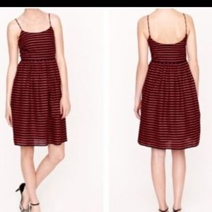 J crew Navy and red striped sundress sz 6